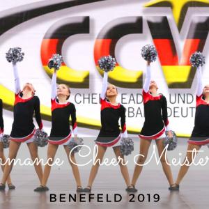 Performance Cheer Meisterschaft am 23.02.2019 in Benefeld